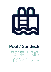 Pool / Sundeck Take a Dip, Take a Sip